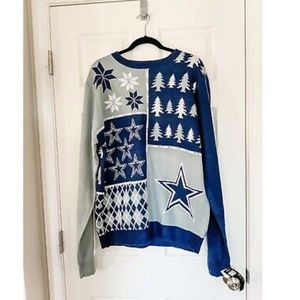 NWT NFL Team Apparel Dallas Cowboys Ugly Christmas